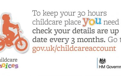To keep your 30 hours childcare, don't forget to update your details